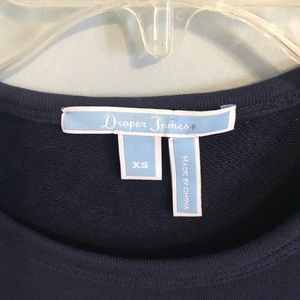 Draper James Tops - Draper James Hello Sugar Sweatshirt Navy XS NWOT